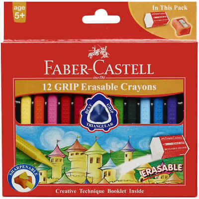 Faber-Castell Grip Erasable Crayons 12 Pack