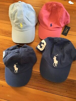 Nwt New Boys Polo Ralph Lauren Stretch Chino Baseball Hat All Sizes And Colors