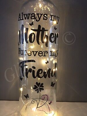 Always My Mother Forever My Friend Diy Vinyl Decal Sticker For Wine Bottle