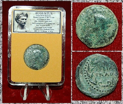 Ancient Roman Empire AUGUSTUS Struck In JULIA TRADUCTA,SPAIN Emperor On Obverse