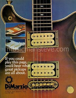 DIMARZIO PICKUPS AD 1978 -  vintage guitar pickups during brass accessory era!