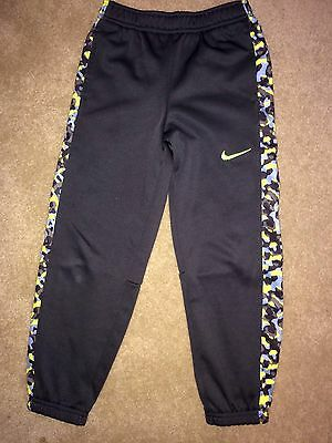 Boys Nike Therma Fit Pants Camo Green Athletic Track Jogging Sz 7