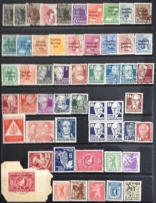 Germany: Allied Occupation - Soviet Zone 1948-1949 MNH/MLH & Used