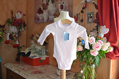 body neuf jacadi 6 mois  rose tendre col clodine brodee main nouveaux