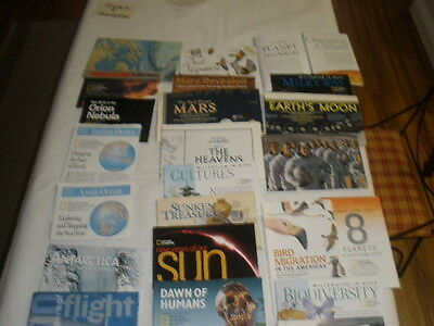 Lot 23 National Geographic map~Canada~Whale~Hawaii~Migrations~Mars~oeceans-more