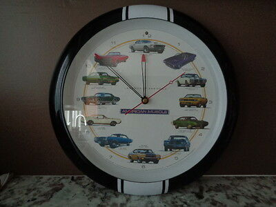 American Muscle Legends Of The Road Novelty Wall Clock 2006