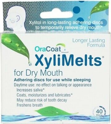 Xylimelts Extra Mint For Dry Mouth - 40 Discs (Pack Of 3)
