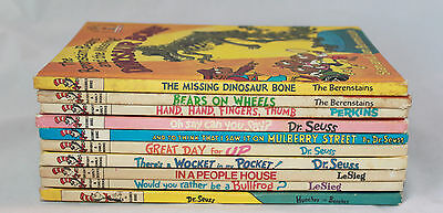 Lot 10 Learning Library Beginner Hardcover Book Dr. Seuss I Can Read Vintage