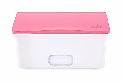 Ubbi Baby Wipes Dispenser with Weighted Plate, Pink