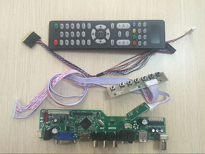 LCD LED screen Controller Driver Board Kit For LP156WH1(TL)(A3) TV+HDMI+VGA+USB