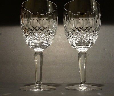 """*VINTAGE* Waterford Crystal COLLEEN TALL (1986-) Set of 2 Water Goblets 7"""""""