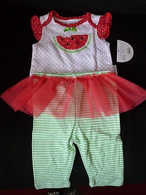 Baby Girl 2 Piece Outfit Body Vest Leggings 6-9 months bnwt
