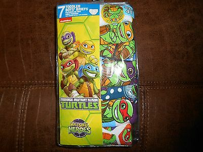 Teenage Mutant Ninja Turtles Boys Toddler Briefs Underwear 4T 7 Pack NEW
