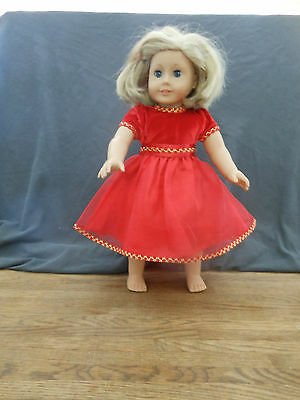 American Girl Doll Clothes - Authentic Red Party Dress