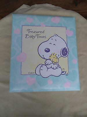 Hallmark Treasured Baby Times  LITTLE SNOOPY Peanuts~Baby Record Book~Rare HTF