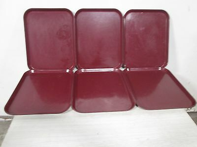 "Lot Of (6) ""cambro"" H.d. Commercial Fiber-Glass Stackable (Nsf) ""camtrays"""