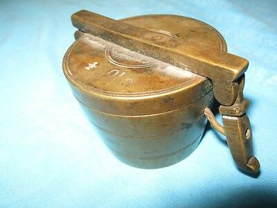 Antique Vintage  Brass Nesting Scale Weight Cup from 19th Century