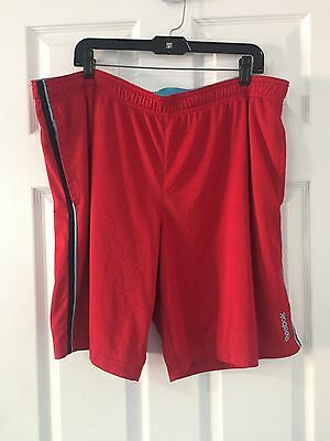 Men's Reebok Red Athletic Basketball Sport Shorts Size 2XL (R)