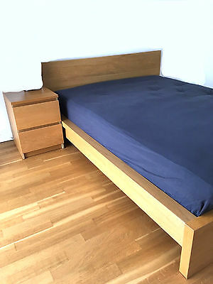ikea malm bett 90 x 200 inkl neuwertiger matratze und lattenrost eur 130 00 picclick de. Black Bedroom Furniture Sets. Home Design Ideas