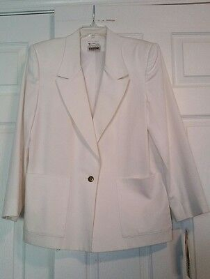 Womens Vintage Country Suburbans Size 8 White Blazer Jacket Made in USA