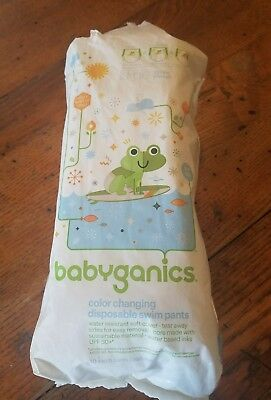 Babyganics Disposable Swim Diapers Lot of 8 Size Large 32+ Lbs.
