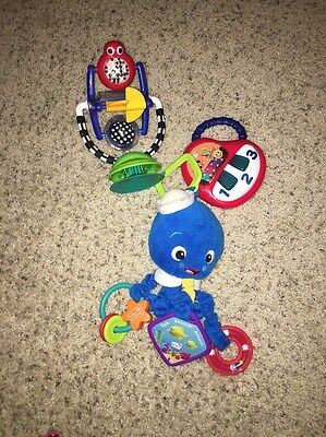 3 Piece Lot High Chair Toy, Stroller/Car Seat Toy, And Mini Piano Toys $40+