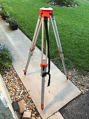 David White Model 9075 Surveyor Laser Level Tripod All Aluminum Packable