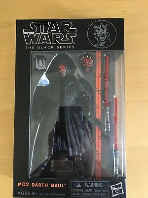 """Darth Maul:Star wars the Black Series 6""""Action Figure Xmas gift  in box"""