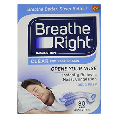 Breathe Right Nasal Strips Original Large, 30 ea
