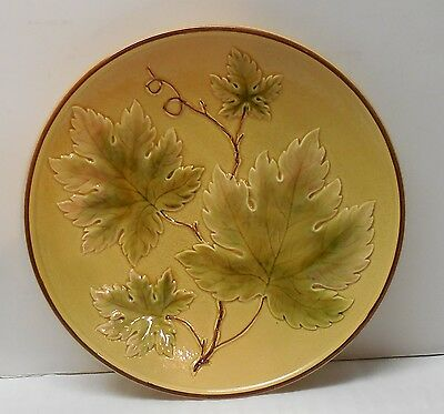 German Plate with Leaves Charger Serving or Decorative Plate Vintage