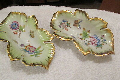 Pair of Stunning Herend China Hungary Small Nut Bowls?