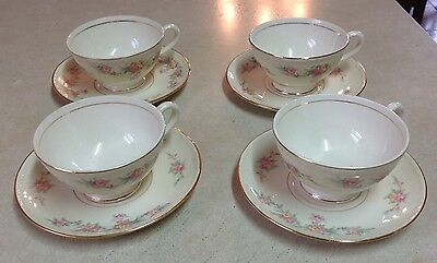 Vintage Homer Laughlin Eggshell Georgian 4 Coffee Tea Cup and Saucer A52N5
