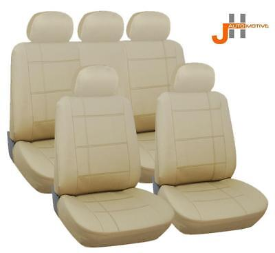 Land Rover Range Rover Vogue 02-12 Luxury Beige Leather Look Seat Cover Set