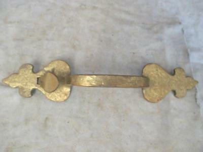 Vintage PH5710  Ornate Brass Door Handle - Thumb Latch - Fleur de Lis   ks3
