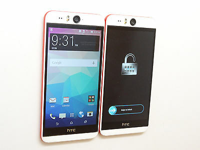 Lot of 2 HTC Desire Eye 0PFH100 AT&T Smartphones Both Power On AS-IS GSM