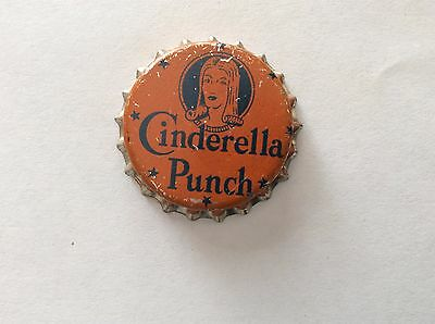 Cinderella Punch  Soda Bottle Cap  -   Unused   -  Cork Lined
