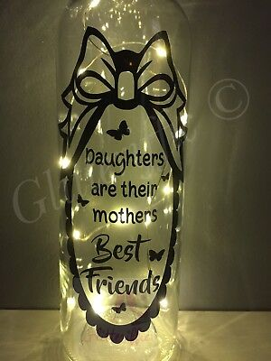 Daughters Are Their Mothers Best Friends Diy Vinyl Decal Sticker For Wine Bottle
