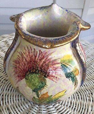 VINTAGE HAND-PAINTED & NUMBERED VASE MADE IN ITALY Gold Paint GORGEOUS