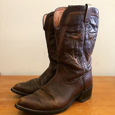 Texas Brown Leather Vintage 70s Mens 10.5 EE Western Cowboy Boots