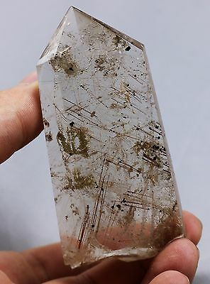 95g RARE NATURAL Hair Rutilated QUARTZ CRYSTAL POINT HEALING