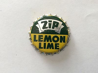 Zip Lemon Lime     Soda   Bottle Cap  -   Unused   -  Cork Lined