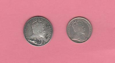 1910 Canada 5 & 10 Cent Pieces 2 coin lot -  circulated