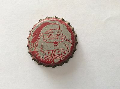"B - 1 Lemon Lime  ""Santa""    Soda   Bottle Cap  -   Unused   -  Cork Lined"