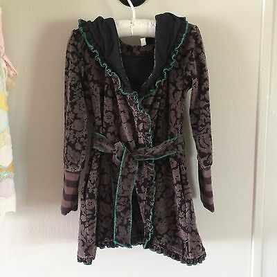 Girls Size 4 Toddler Matilda Jane You and Me Willow Velour Robe Purple Black 4T