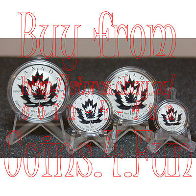 1967-2017 - Canada - Maple Leaf Tribut - Pure Silver Fractional 4-Coin Set