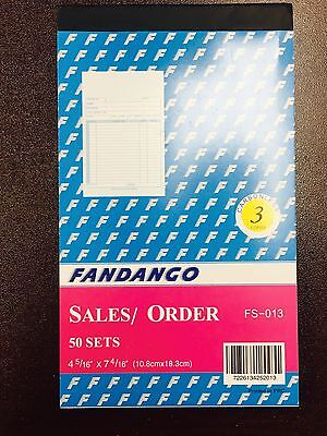 10 Pack: 3 part Carbonless Sales Order Books Receipt Form Invoice 50 Set 4.5x7.5