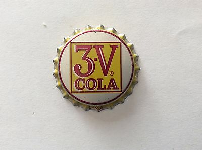 3 - V Cola   Soda   Bottle Cap -     Unused   -  Cork Lined