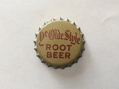 Ye Olde Style Root Beer   Soda   Bottle Cap -     Unused   -  Cork Lined