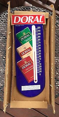 Doral Cigarettes Metal Sign Thermometer R.j. Reynolds Tobacco Co Nos Box Papers