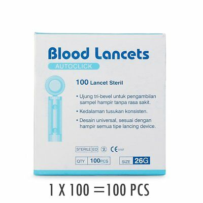 100-1000pcs Sterile 28G/26G/33G  Disposable Lancets For Blood Test/Testing Kits